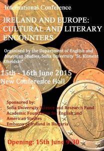 """IRELAND AND EUROPE: CULTURAL AND LITERARY ENCOUNTERS"""